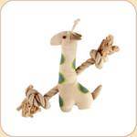 One Rope Canvas Spotted Giraffe Toy