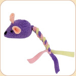 Squeaky Wee Mouse with Braided Tail