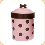 "Pink Polka Dot 9"" Treat Jar"