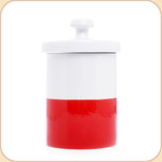 "Red Ceramic 9"" Treat Jar"