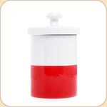 """Red Ceramic 9"""" Treat Jar"""