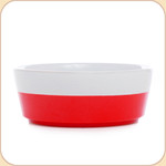 Red Hand-Dipped Ceramic Bowl