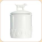 WOOF White Ceramic Treat Jar--2 sizes