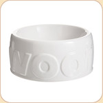 WOOF White Ceramic Bowl