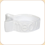 MEOW White Ceramic Bowl