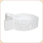 MEOW White Ceramic Bowl