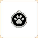 Enamel/Stainless Paw Print 11 Color Options