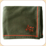 Spunky Dog Emblem Olive Blanket