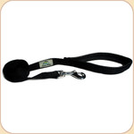 Cushioned-Grip Nylon Web Leash in Black