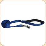 Cushioned-Grip Nylon Web Leash in Blue