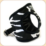 Choke-Free Zebra Cotton Harness--Mesh Lining