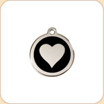Enamel/Stainless Heart  11 Color Options