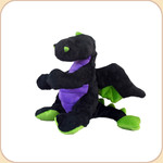 One Plush Black Mini Dragon