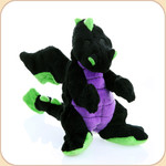 One Plush Black Dragon