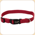 "Soy Dog Collar in Cranberry--5/8"" & 1"""