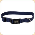 "Soy Dog Collar in Indigo--5/8"" & 1"""