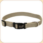 "Soy Dog Collar in Olive--5/8"" & 1"""
