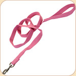 "Soy Dog Leash in Rose--5/8"" & 1"""