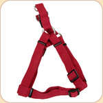 "Soy Dog Harness in Cranberry--5/8"" & 1"""