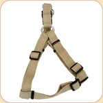 "Soy Dog Harness in Olive--5/8"" & 1"""