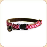 Cat Collar Breakaway & Bell--Strawberry Delight