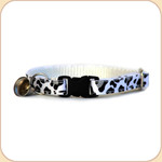 Cat Collar Breakaway & Bell--Snow Leopard