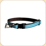 Cat Collar Breakaway & Bell--Taffy Teal