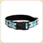 "M, L, XL Ribbon Collar & Leash 1""--Love Birds"