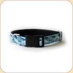 "M, L, XL Ribbon Collar & Leash 1""--Dandelion Blue"