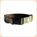 "M, L, XL Ribbon Collar & Leash 1""--Protea Jade"