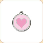Enamel/Stainless Pink Heart