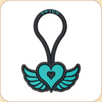 ID T-Tag--Heart in Teal