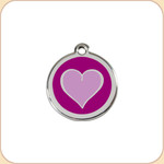 Enamel/Stainless Purple Heart
