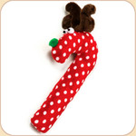 Holiday Cane Deer--Polka Dot