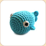 Blue Fish Rattle Toy