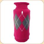Fuchsia Classic Argyle Sweater