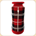 Classic Red and Black Plaid Sweater