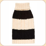 Classic Black & Cream Fisherman Knit Sweater