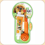 Triple Pet Fingerbrush Toothbrush & Toothpaste Kit