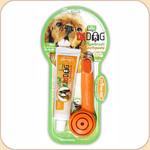 Triple Pet Fingerbrush Toothbrush & Toothpaste Kit