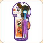 Triple Pet Triple-Head Toothbrush/Toothpaste Kit--Small Pet