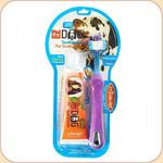 Triple Pet Triple-Head Toothbrush/Toothpaste Kit--Large Pet