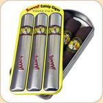 The beautiful tin contains 3 Duckyworld Cigars.