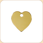 Flat Brass Heart
