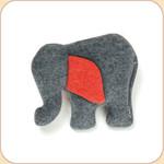 One Hemp Red-Eared Elephant--Mini