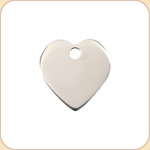 Flat Stainless Heart
