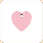 Flat Plastic Heart 10 Color Options