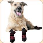Woof Wear Booties in Burgundy x4--Fleece Lining