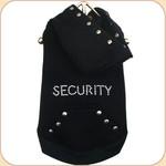 SECURITY Sleeveless Hoodie--Black