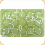 Silicone Placemat--Pups on Sage
